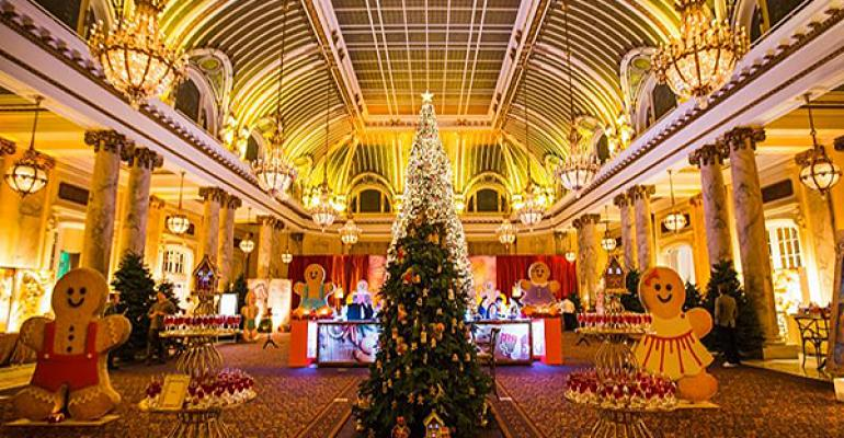 New Event Decor Includes Gingerbread Figures, Tent Graphics, Half-oval Colonnade Arch