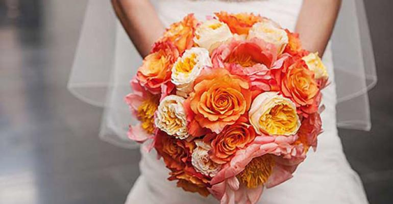 A vivid bridal bouquet from Newberry Brothers