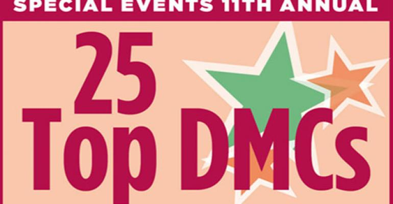 11th annual 25 Top DMC List from Special Events Magazine