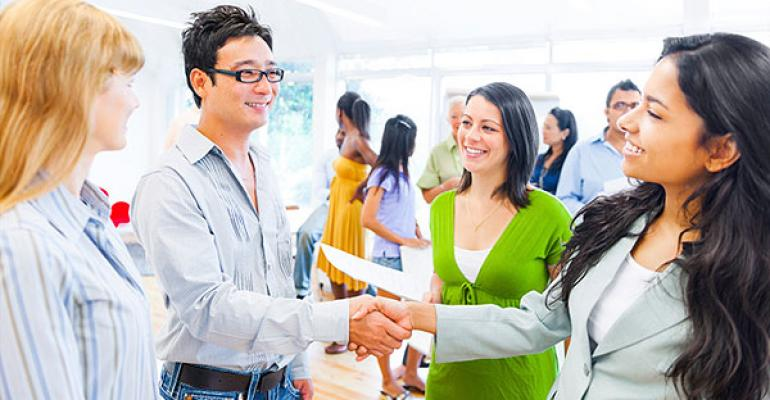 networking at an event