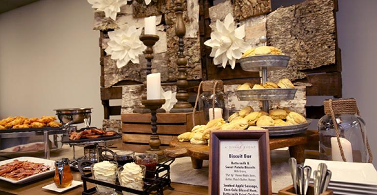 A biscuit bar from A Divine Event