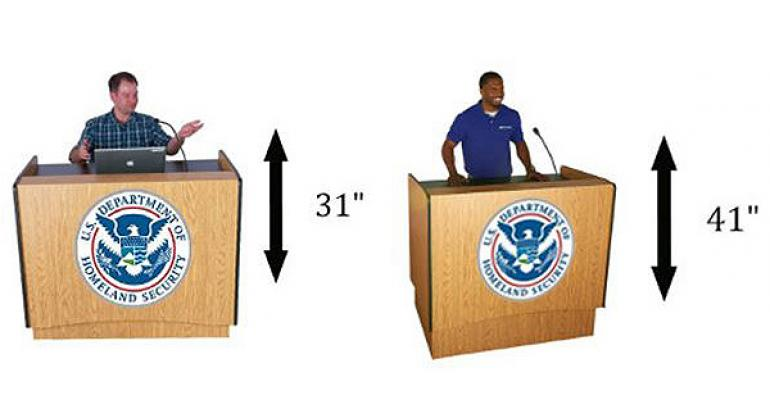 Adjustable height lecterns
