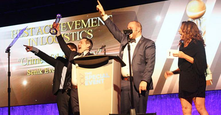 The team from Montrealbased Senik Events is jubilant after winning the Gala Award for Best Achievement in Logistics