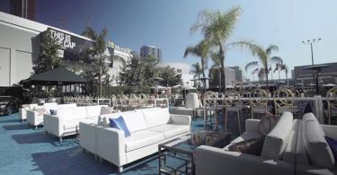 Outdoor lounge setting by CORT Events
