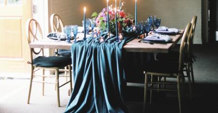 Velvet drape