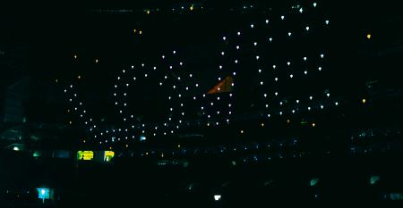 Drones at Super Bowl halftime 2019