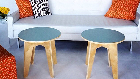 color Flattered coffee tables from Ronen Rental