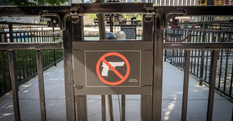 Ban guns in park