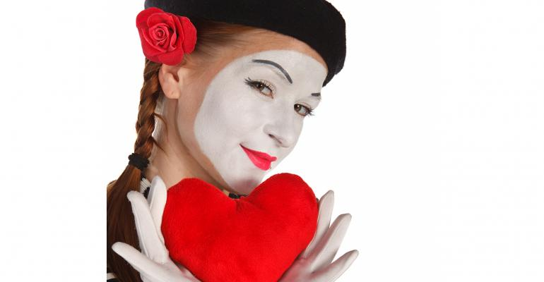 Mime Girl with Heart 2
