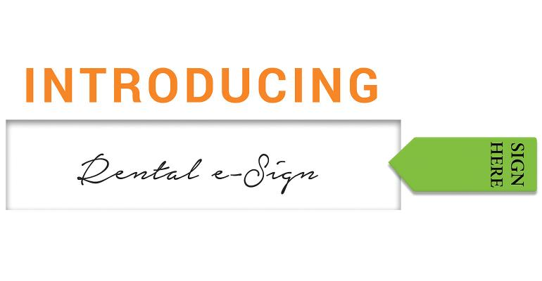 Point of Rental ESign