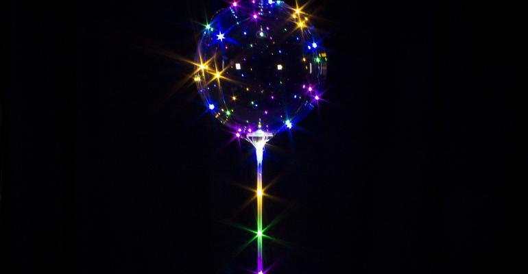 Windy City Lollipop LED balloon
