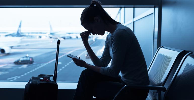 Worried traveler