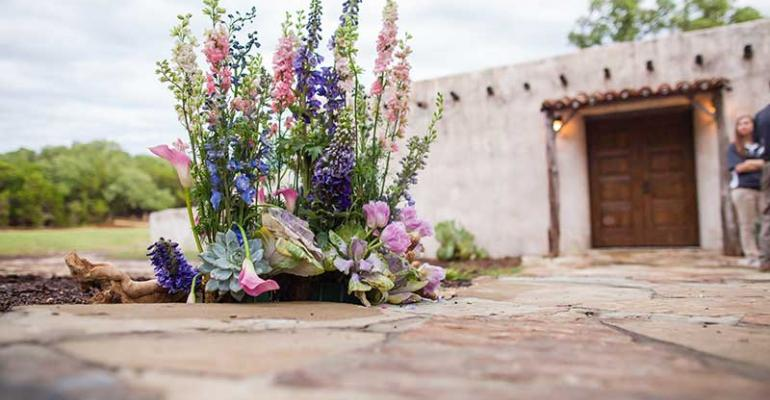 Floral for Texas Hill Country wedding