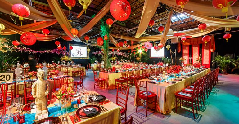 Road to China Gala: Mosaic Catering + Events Turns a Warehouse into a Wonderland