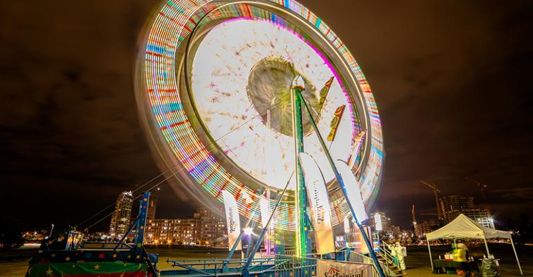 Ferris wheel dining at Beakerhead 2014