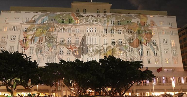 Video mapping on Copacabana Palace