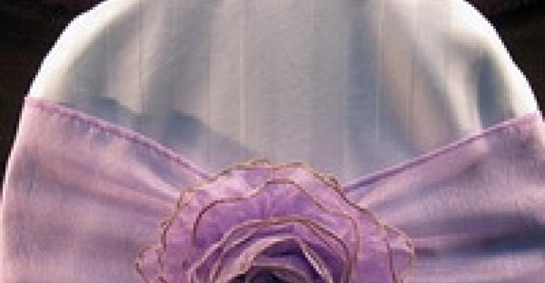 Linen 'N Stuff Debuts Chair Tie with Elegant Flower