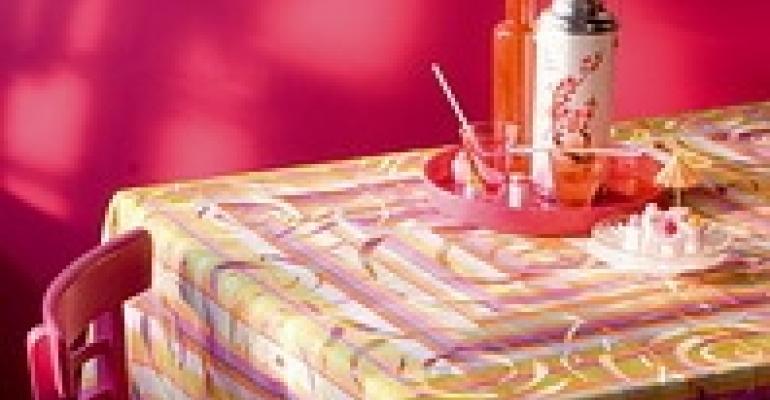 Garnier-Thiebaut Debuts Colorful Coated Linen