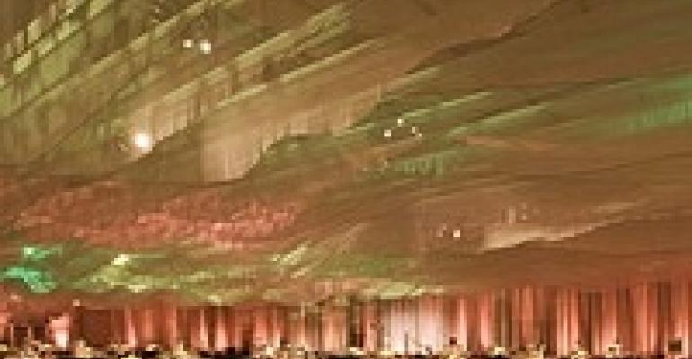 Matthew David Hopkins Creates Beautiful, Eco-Sensitive Event with Striking Ceiling