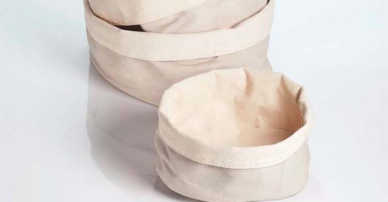 New Canvas Bread Bags, Peony Dupioni, Rustic Drinking Jars