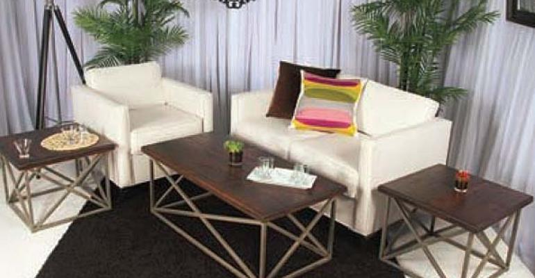 A1's New X-Line Furniture, Colonnade Decorating Tips, Colorful Raj Tents