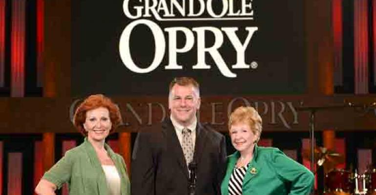 Our Show Ambassadors in Nashville Rhonda Marko CMP CMM DMCP of Destination Nashville Vincent Dreffs CPCE of host hotel the Gaylord Opryland and Jo Dermid CPCE of Graceful Tables from left