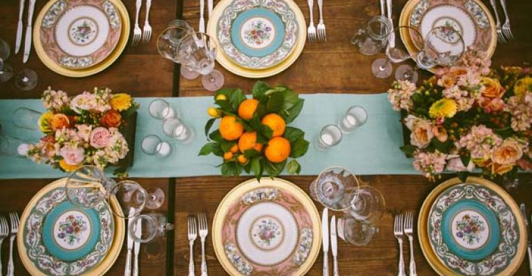 A pretty vintage wedding from Events of Distinction Photo by Caroline Ghetes