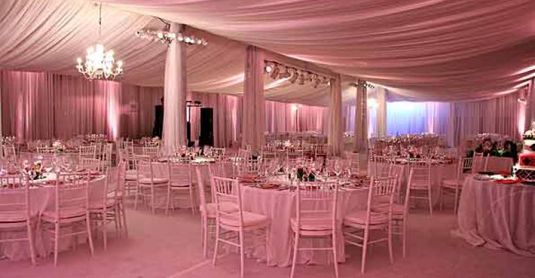 Beautiful room created in a warehouse by Bob Gail Special Events