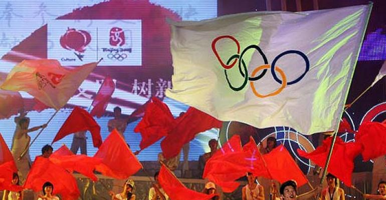 A moment from the closing ceremonies at the 2008 Olympic Games in Beijing