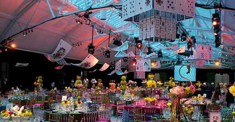 The fanciful Alice in Wonderland theme at the 2012 Daffodil Ball a Gala Awardwinner for Alison Silcoff Events and team