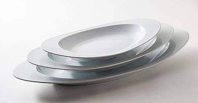 Corby Hall oval platters
