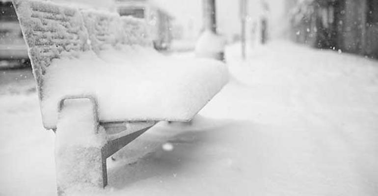 snowed in city