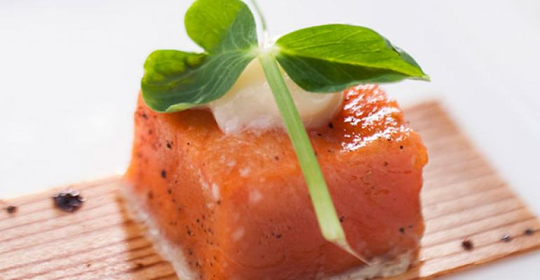 From Culinary Capers Catering Juniper Glazed Cedar Baked Salmon with Elderflower Mayonnaise