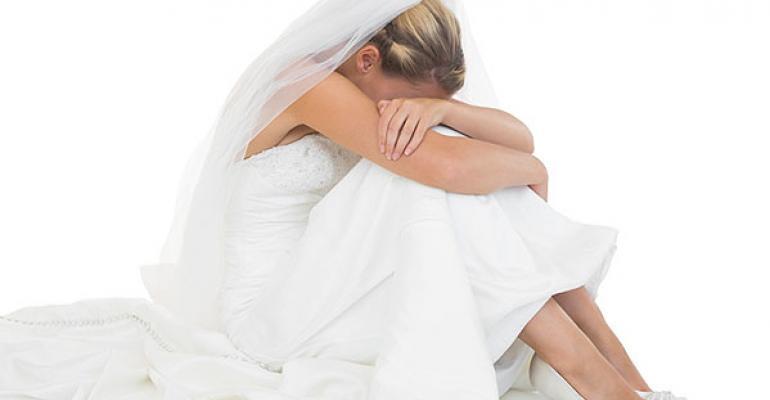 rueful bride