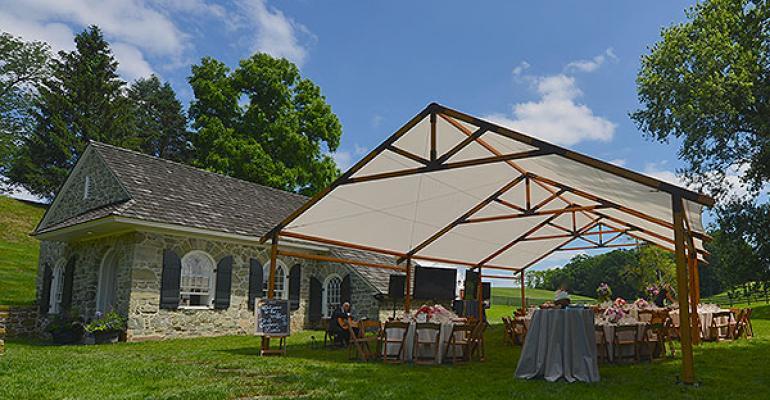 Aztec Tents Timbertrac & event tents   rustic Timbertrac CORT Draper soft seating tiny ...
