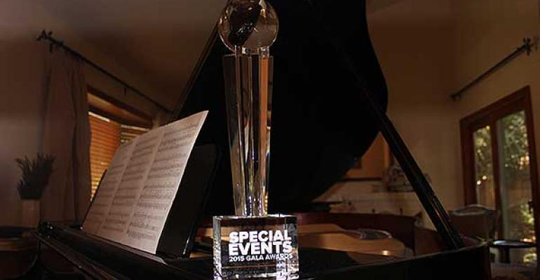 Special Events Gala Award trophy