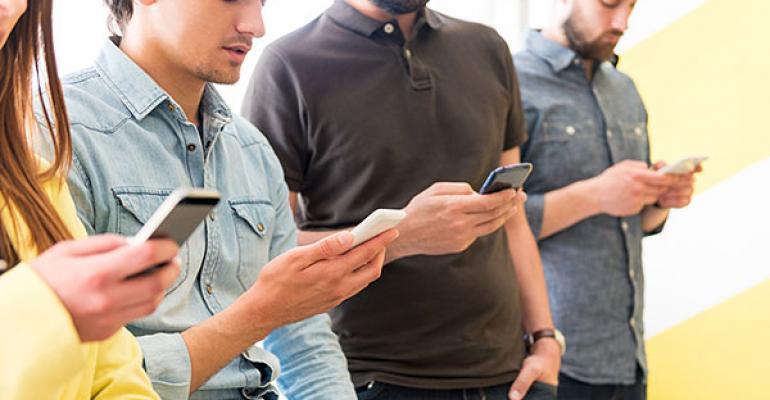 Millenials on cellphones