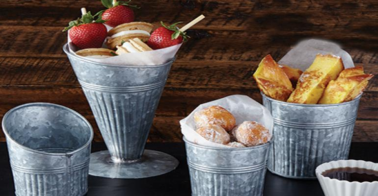 Galvanized fry cups