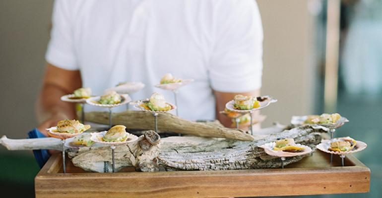 Driftwood appetizer tray