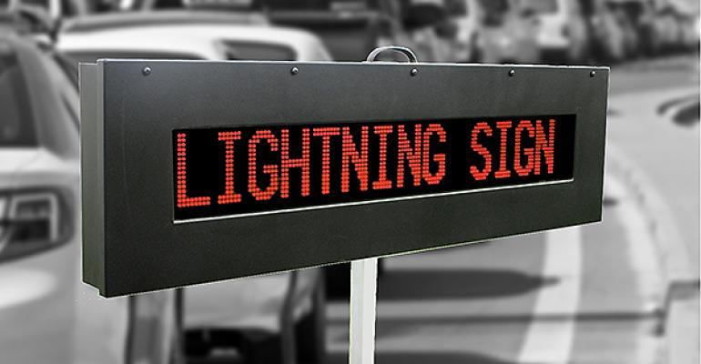 Lightning LED sign