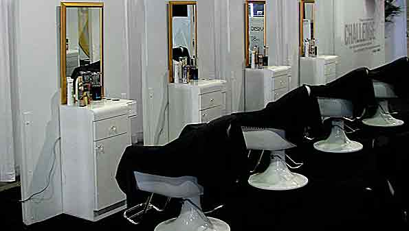 salon chairs and hair styling stations offered by Vitality Furniture