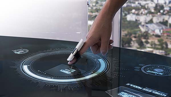 MUV interactive fingertip device